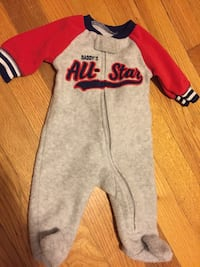 gray and red long-sleeved onesie 369 mi