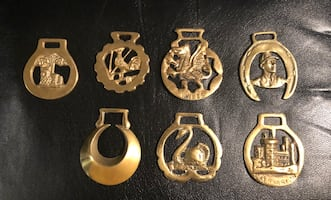 Vintage Horse Harness 7 Buckles