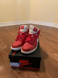 Air Jordan 1's all Red and White