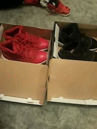 pair of red-and-black Nike basketball shoes Louisville, 40228