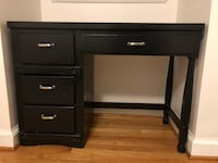 Black wooden single pedestal desk Alexandria, 22301