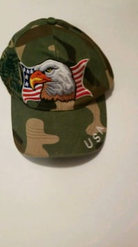 green and black camouflage fitted cap Roseville, 95661