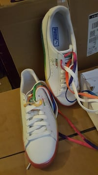 Puma rainbow shoes nwb