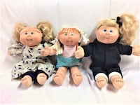 3 Full Size Cabbage Patch Dolls WHITBY