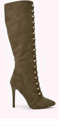 Women's Olive Knee High Boot 46 km
