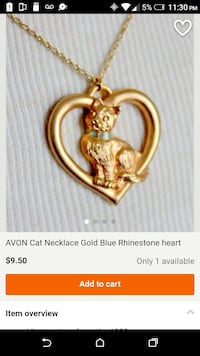 Avon cat necklace
