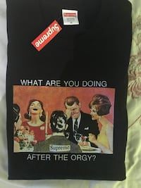 Supreme orgy Tee Black  Kitchener, N2C
