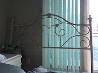 Off white wrought iron queen head board, must go ASAP! It best offer! Mississauga, L5A 1B4