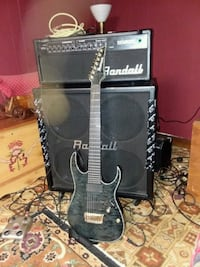 Ibanez 7 string and Randall half stack