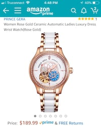 round gold-colored chronograph watch with link bracelet screenshot Anaheim, 92804