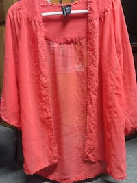 women's red floral lace long sleeve tops Québec, G6R 0G8