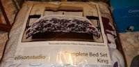 white, gray and purple floral bed sheet set Ogden, 84404