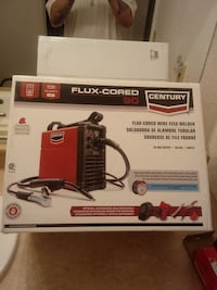 FLUX CORED CENTURY WIRE FEED WELDER 30-90AMP.OUTPUT 120V