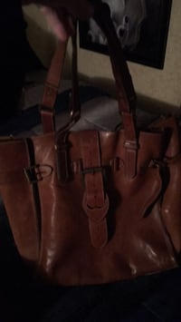 Brown and black leather tote bag Colts Neck, 07722