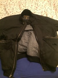 giacca con zip Woolrich nera