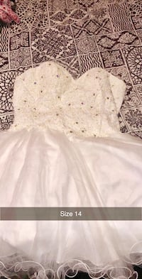 Prom dress size 14 can be used for wedding as well beautiful Only used one time for my wedding Philadelphia, 19120