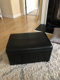 black leather padded ottoman chair Fairfax, 22033