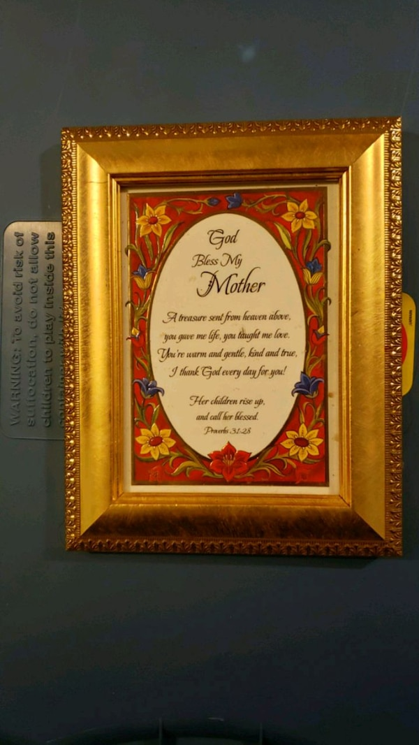 Used God Bless My Mother Wooden Photo Frame For Sale In Bald Knob
