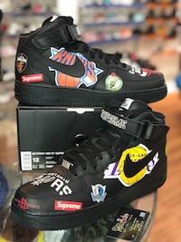 Brand new NBA black Supreme Air Force 1s size 12 Silver Spring, 20902