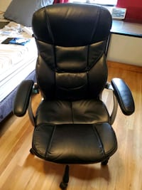 Black leather desk chair  Somerville, 02145