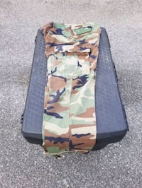 BDU pants medium-long, military, outdoor, pockets