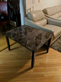 brown wooden framed gray marble top coffee table Calgary, T2J 7B5