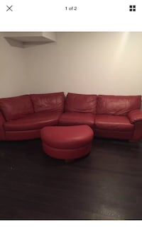 Leather sofa with foot rest Arlington, 22207