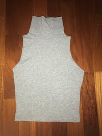 Hollister gray sleeveless croptop