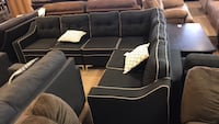 Black Fabric Sectional  Phoenix, 85018