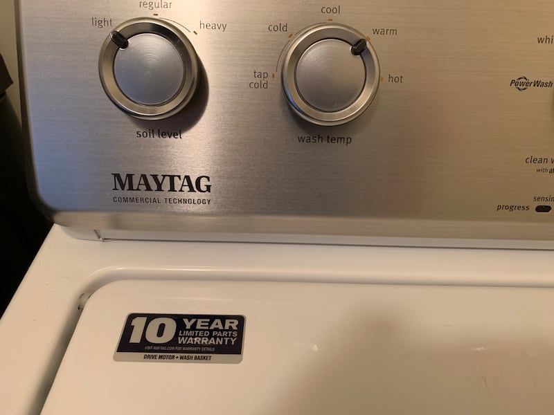 Maytag High Efficiency Washer Top Loader w stainless drum dade92ce-ff1f-4321-9333-e3eacada9d56