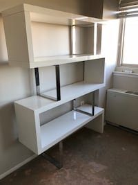 white wooden TV hutch with shelf Alexandria, 22314