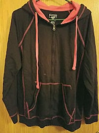 Black and Pink Zip-Up Hoodie Size L Sioux Falls, 57110