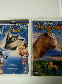 Balto and Dinosaur vhs tapes