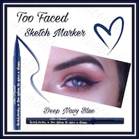 Too Faced Sketch Marker Liquid Art Eyeliner Deep Navy Blue Virginia Beach, 23451