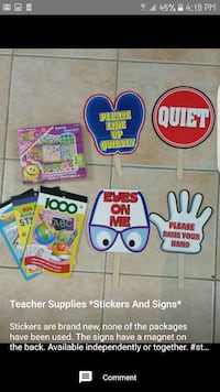 Stickers and Signs for Teachers Vaughan