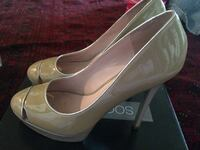 Women's pair of brown and pink leather stilettos Alexandria, 22311