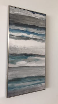 Turquoise, silver, gray, rose painting  Washington, 20005