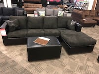 2 PC sectional and FREE ottoman Phoenix