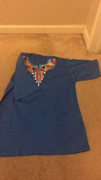 blue and red crew-neck shirt 54 km