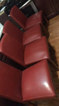 100.00 4 leather chairs in great condition  Peoria, 85383