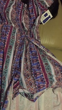 blue, red, and white floral textile Chauvin, 70344