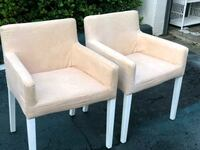 Set of beige and white accent chairs- needs a little cleaning Pembroke Pines, 33026