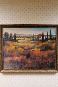 Painting 3'x3' french countryside