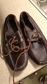 pair of black leather boat shoes North Arlington, 07031