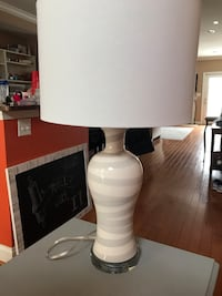 White and gray table lamp Baltimore, 21230