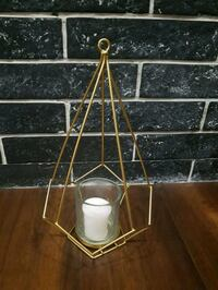 Tall geometric candle holders - 8 available $9 each with candle Vaughan, L4H 2R9