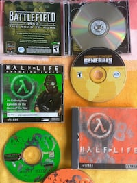 PC Comouter games assorted selection / Three half-life and battlefield games with cases Alexandria, 22311