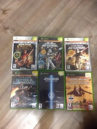 Six xbox game cases Surrey, V3T 3G4