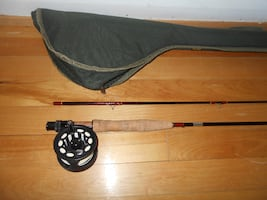 Fly Fishing rod and reel number 6, complete, Trout etc