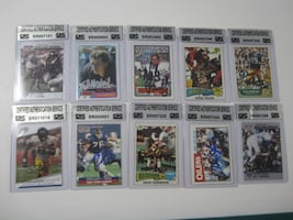 Hand Signed and Certified Football Cards